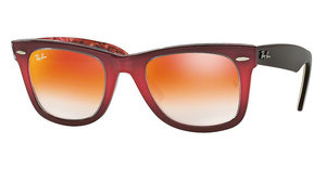 Ray-Ban RB2140 12004W MIRROR GRADIENT REDTOP GRAD PINK ON BROWN