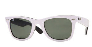Ray-Ban RB2140 956 TOP WHITE ON BLACK CRYSTAL GREEN
