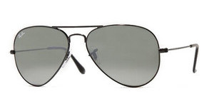 Ray-Ban RB3025 002/37 BLACK CRY. GRAY-GREEN SILVER MIRROR