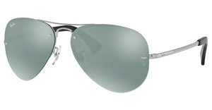 Ray-Ban RB3449 003/30 GREEN MIRROR SILVERSILVER