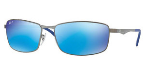 Ray-Ban RB3498 029/9R GREEN MIRROR BLUE POLARMATTE GUNMETAL