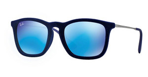 Ray-Ban RB4187 608155 BLUE MIRRORFLOCK BLUE