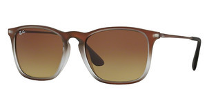 Ray-Ban RB4187 622413 BROWN GRADIENT DARK BROWNBROWN SHOT ON BLACK