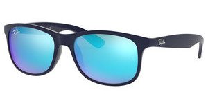 Ray-Ban RB4202 615355 GREEN MIRROR BLUESHINY BLUE ON MATTE TOP
