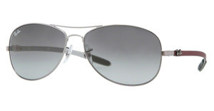 Ray-Ban RB8301 130/71 SHINY GUNMETAL CRYSTAL GRADIENT GREY