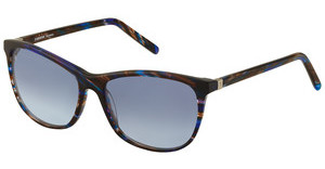 Rodenstock R3278 C sun protect - black bluebrown/ blue structured
