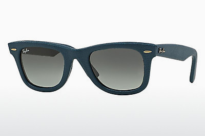 Óculos de marca Ray-Ban WAYFARER LEATHER (RB2140QM 116871) - Azul