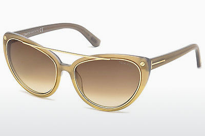 Óculos de marca Tom Ford Edita (FT0384 34F) - Bronze, Bright, Shiny