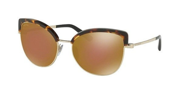 Bvlgari BV6082 278/F9 BROWN MIRROR BRONZEPALE GOLD/BLONDE HAVANA