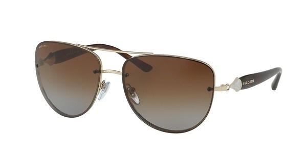 Bvlgari BV6086B 278/T5 POLAR BROWN GRADIENTPALE GOLD