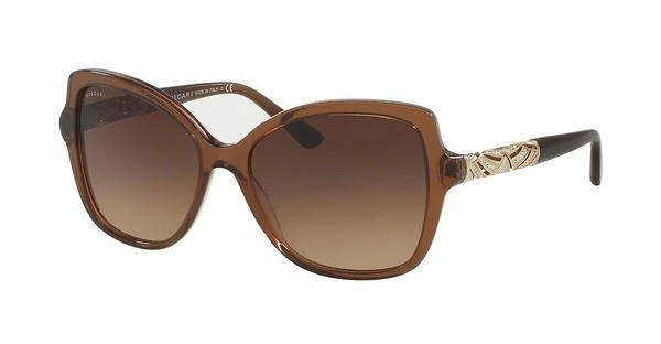 Bvlgari BV8174B 540113 BROWN GRADIENTSTRIPED BROWN TRANSPARENT