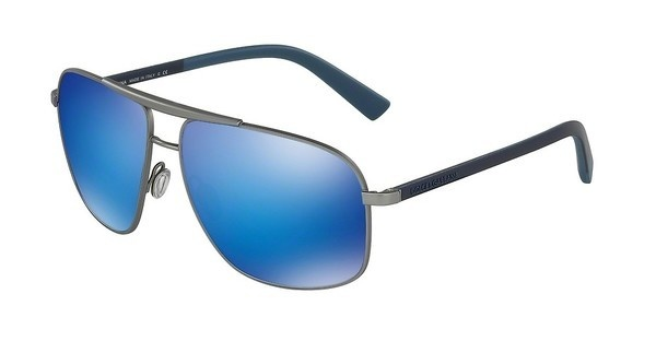 Dolce & Gabbana DG2154 126225 GREEN MIRROR LIGHT BLUEGUNMETAL RUBBER