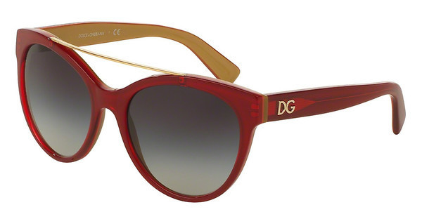 Dolce & Gabbana DG4280 29688G GREY GRADIENTTOP RED ON GOLD