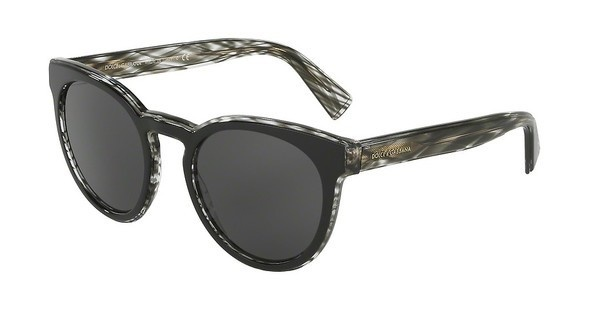 Dolce & Gabbana DG4285 305687 GREYTOP BLACK ON STRIPED