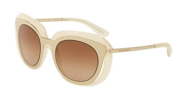 Dolce & Gabbana DG6104 304313 BROWN GRADIENTPALE GOLD/OPAL ICE