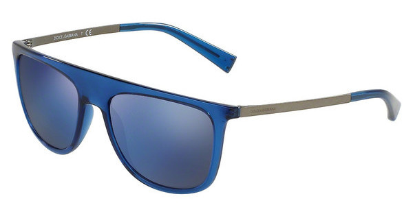 Dolce & Gabbana DG6107 3067Y7 GREY MIRROR BLUE MATTETRANSPARENT BLUE