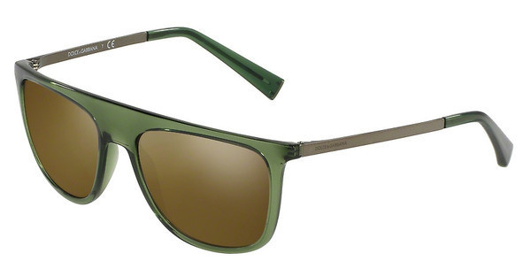 Dolce & Gabbana DG6107 3068Y8 BROWN MIRROR GOLD MATTETRANSPARENT GREEN