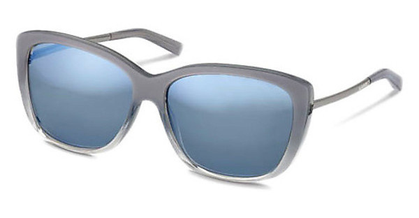 Jil Sander J3003 C light blue mirrorLight Grey Gradient