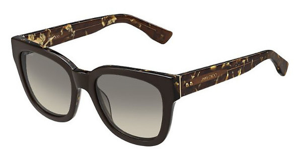 Jimmy Choo OTTI/S J3P/6P BROWN FL GOLDBRW SPTTD