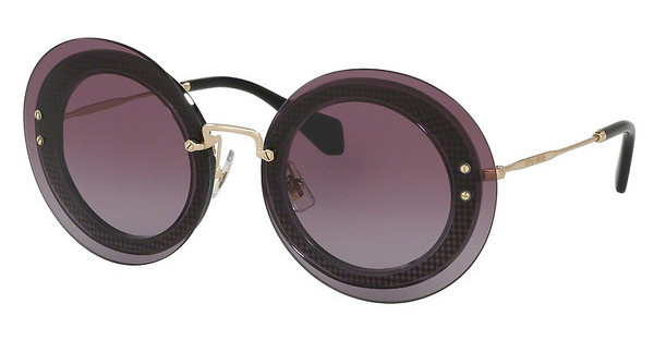 Miu Miu MU 10RS U6B5F1 VIOLET GRADIENTTRANSPARENT GREY/FABRIC BLACK