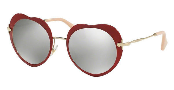 Miu Miu MU 54RS USS2B0 LIGHT GREY MIRROR SILVERRED