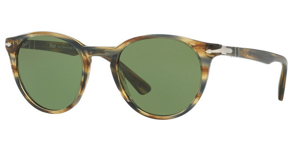 Persol PO3152S 90424E GREENSTRIPED BROWN GREY