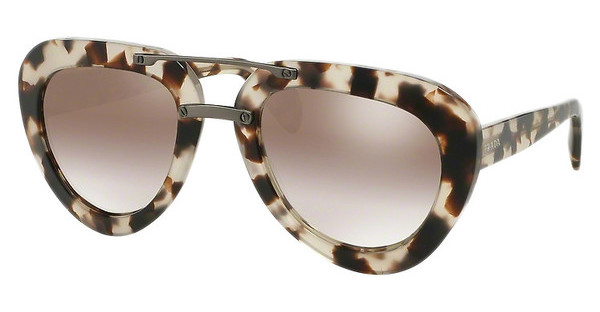 Prada PR 28RS UAO4O0 GRADIENT BROWN MIRROR SILVERSPOTTED OPAL BROWN