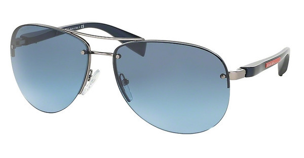 Prada Sport PS 56MS 5AS5I1 GREY BLUE GRADIENTPEWTER DEMI SHINY