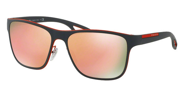 Prada Sport   PS 56QS VHL6Q2 LIGHT BROWN MIRROR PINKORANGE/GREY RUBBER
