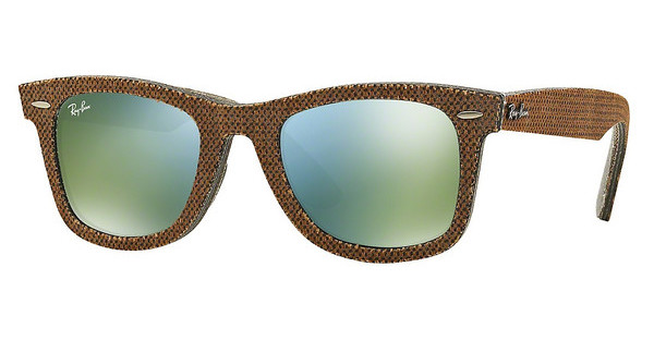 Ray-Ban RB2140 11912X GREEN MIRROR GREENTOP OSAKA BROWN ON JEANS GREY