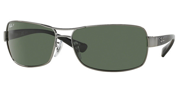 Ray-Ban RB3379 004/58 CRYSTAL GREEN POLARIZEDGUNMETAL