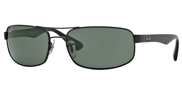 Ray-Ban RB3445 002/58 CRYSTAL GREEN POLARIZEDBLACK