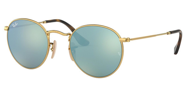 Ray-Ban RB3447N 001/30 GREY FLASHSHINY GOLD