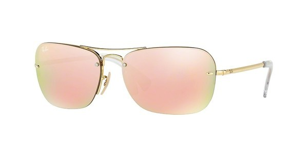 Ray-Ban RB3541 001/2Y BROWN MIRROR PINKGOLD