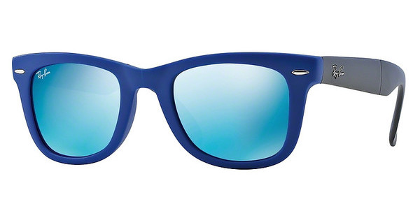 Ray-Ban RB4105 602017 CRYSTAL GREEN MIRROR BLUEMATTE BLUE
