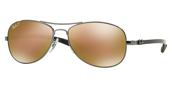 Ray-Ban RB8301 004/N3 BROWN MIRROR GOLD POLARSHINY GUNMETAL