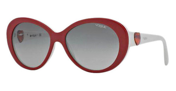 Vogue VO2792SB 206611 GRAY GRADIENTTOP RED/WHITE
