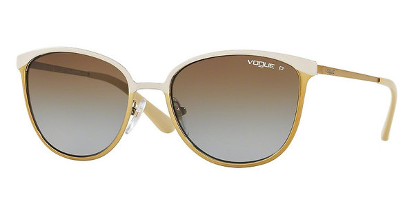 Vogue VO4002S 996ST5 POLAR BROWN GRADIENTMT BEIGE/BRUSHED GOLD