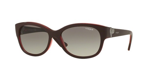 Vogue VO5034SB 237711 GREY GRADIENTTOP DARK RED/OPAL RED