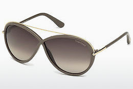 Óculos de marca Tom Ford Tamara (FT0454 59K) - Corno, Beige, Brown