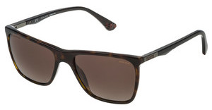Police SPL362 722P BROWN GRADIENTSHINY DARK HAVANA
