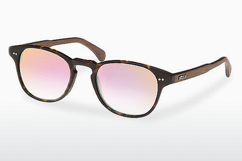 Óculos de marca Wood Fellas Haidhausen (10758 walnut/havana/rose)