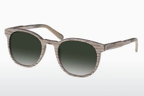 Óculos de marca Wood Fellas Neuhausen (10761 chalk oak/green)