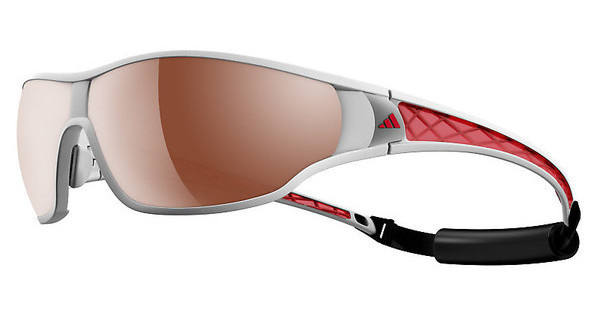 Adidas   A189 6052 LST polarized silver H+shiny white/red
