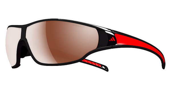 Adidas   A192 6051 LST polarized silver H+shiny black/red pol