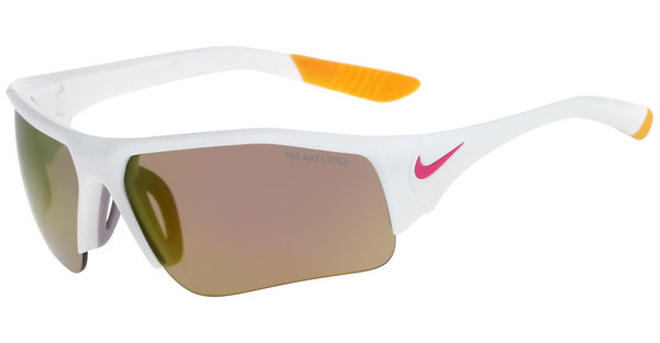 Nike   SKYLON ACE XV JR R EV0910 158 WHITE/VIVID PINK WITH GREY W/ ML ORANGE FLASH  LENS